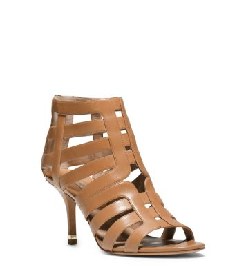 Susie Leather Cutout Sandal by Michael Kors