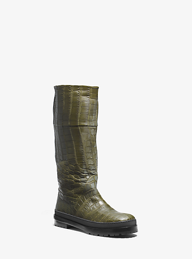 Winnie Nile Crocodile Rain Boot by Michael Kors