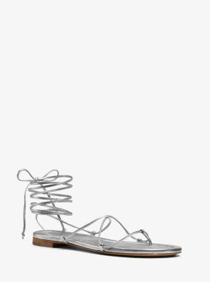 Bradshaw Metallic Leather Sandal  by Michael Kors