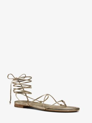 Bradshaw Metallic Leather Sandal  by Michael Kors