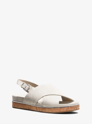 Hallie Suede Sandal  by Michael Kors