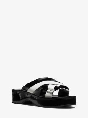 Margeaux Leather Sandal  by Michael Kors