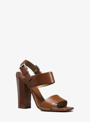 Thelma Runway Leather Sandal  by Michael Kors