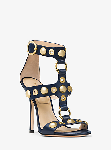 Arlene Embellished Leather Sandal by Michael Kors