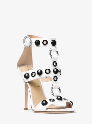Arlene Embellished Leather Sandal by Michael Kors