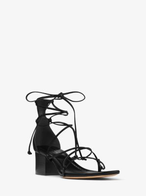 Ayres Lace-Up Leather Sandal by Michael Kors