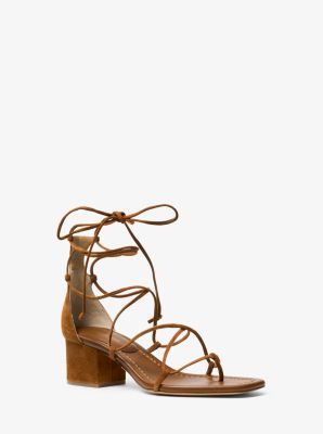 Ayres Suede Lace-Up Sandal by Michael Kors