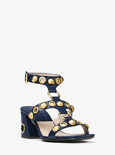 Sandale Kat aus Leder mit Verzierungen by Michael Kors