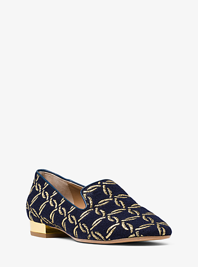 Roxanne Brocade and Leather Loafer by Michael Kors