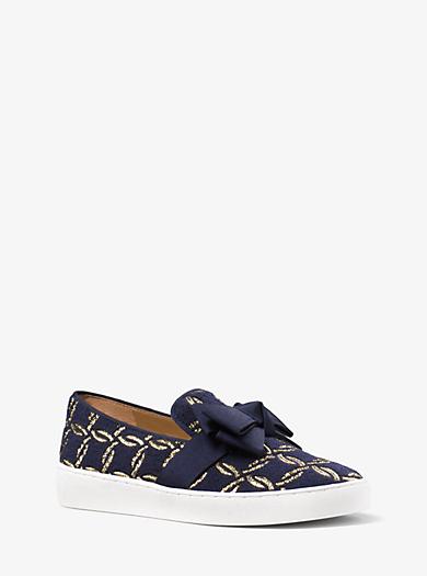 Val Metallic Brocade Slip-On Sneaker by Michael Kors