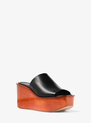 마이클 코어스 마이클 코어스 Michael Kors Jane Calf Leather Slide