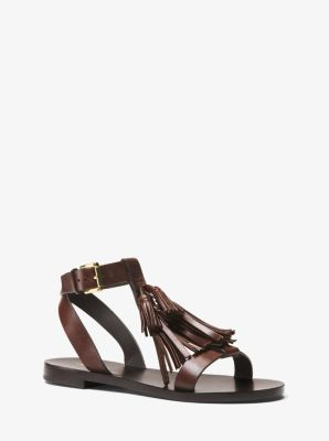마이클 코어스 테슬 샌들 Michael Kors Steffi Leather Tassel Sandal