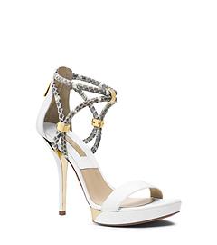 Fariha Snakeskin Open-Toe Platform Sandal