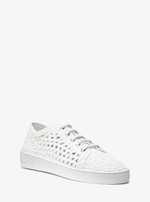 Violet Woven-Leather Sneaker by Michael Kors