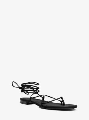 Bradshaw Runway Leather Sandal by Michael Kors