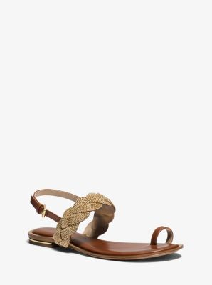 Hanalee Chain and Leather Sandal by Michael Kors