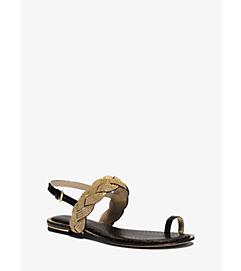 Hanalee Chain and Snakeskin Sandal by Michael Kors