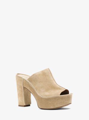 Elsa Suede Platform Sandal  by Michael Kors
