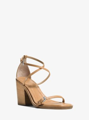 Madie Runway Leather Sandal  by Michael Kors