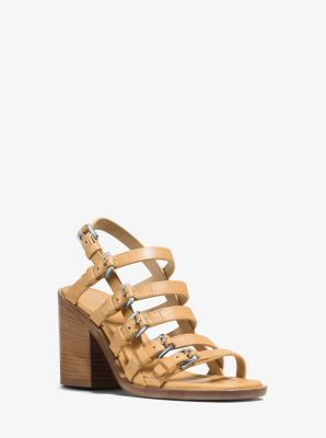 Marie Runway Leather Sandal  by Michael Kors