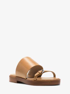 Skye Leather Sandal  by Michael Kors