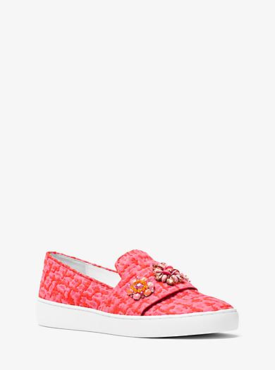 Slip-on-Sneaker Henna aus Jacquard mit Verzierung by Michael Kors