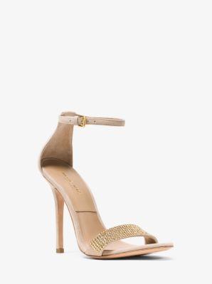 마이클 코어스 스웨이드 샌ㄴ들 Michael Kors Jacqueline Embellished Suede Sandal