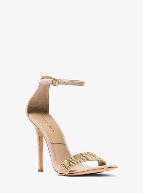 Jacqueline Embellished Suede Sandal