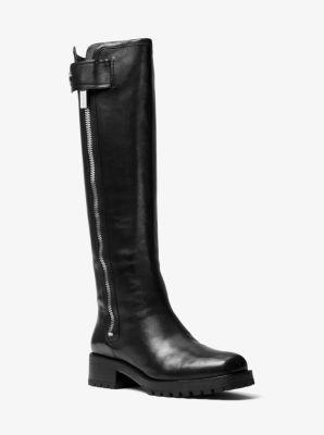 마이클 코어스 마이클 코어스 Michael Kors Malinda Calf Leather Boot,BLACK