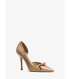 Alessandra Leather Bow Pump by Michael Kors