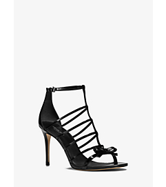 Blythe Leather Bow Sandal by Michael Kors