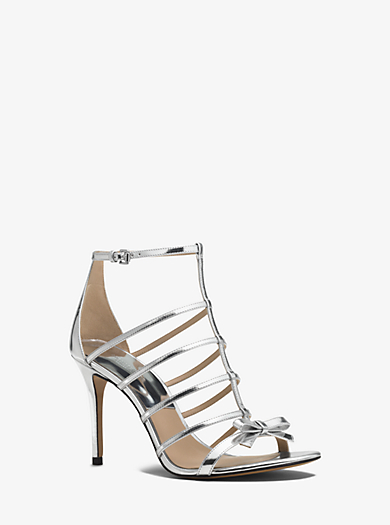 Blythe Metallic Leather Sandal by Michael Kors