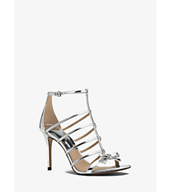 Blythe Metallic Leather Sandal by Michael Kors