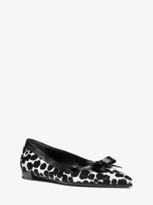 Emmy Calf Hair and Leather Flat by Michael Kors