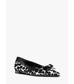 Emmy Runway Calf Hair and Leather Flat by Michael Kors
