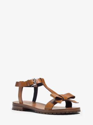 Fiona Runway Leather Sandal by Michael Kors