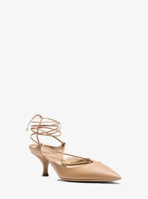 Somers Runway Calf Leather Lace-Up Pump by Michael Kors