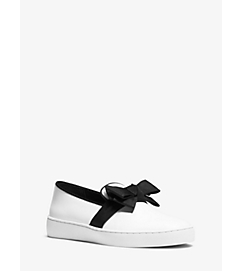 Val Runway Leather Bow Sneaker by Michael Kors