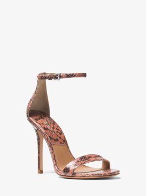 Jacqueline Snakeskin Sandal by Michael Kors