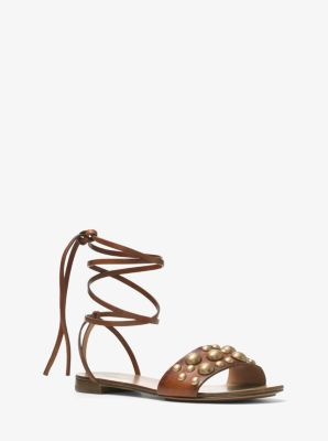 Mica Studded Leather Sandal by Michael Kors