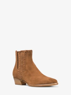 Presley Suede and Leather Ankle Boot by Michael Kors