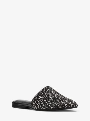 마이클 코어스 뮬 Michael Kors Darla Leopard Calf Hair Mule,BLACK/WHITE