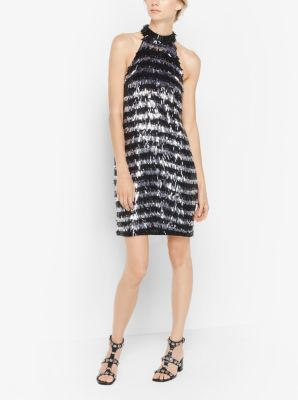 Fringed Sequined Dress by Michael Kors