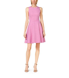Gingham Wool Dance Dress by Michael Kors