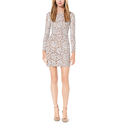 Paillette-Embroidered Lace Dress by Michael Kors