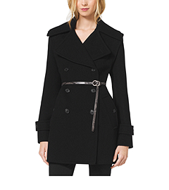 Melton-Wool Convertible Peacoat