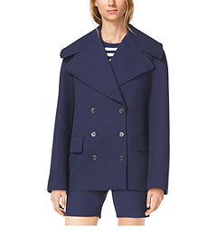 Cotton-Crepe Peacoat