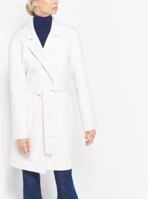 Cashgora-Melton Bathrobe Coat by Michael Kors