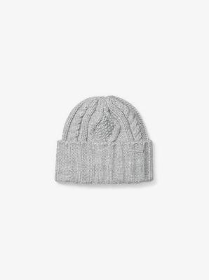 Aran-Knit Beanie by Michael Kors