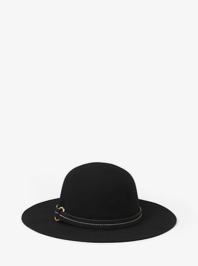 Hut aus Wollfilz mit breiter Krempe by Michael Kors